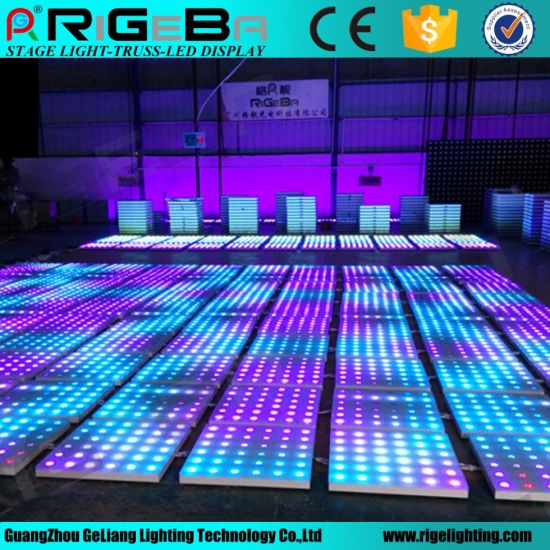 60*60mm Cheap Portable Used DJ RGB Color LED Dance Floor for Sale pictures &