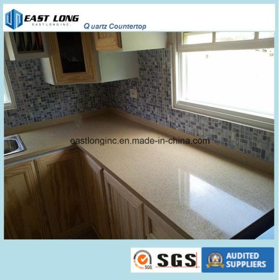 Marble Color Quartz Stone Kitchen Countertop