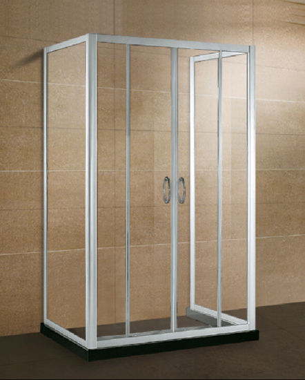 China Three Side Alcove Glass Shower Enclosure - China Rectangle ...