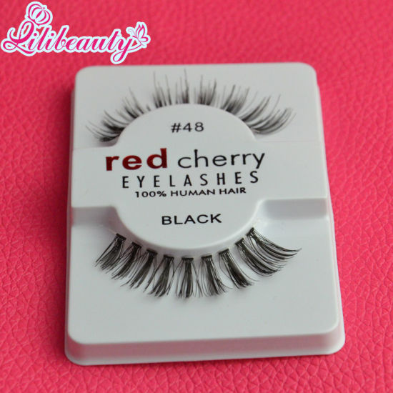 Factory Wholesale Price High Quliay Red Cherry Fake Human Hair Eyelashes pictures & photos