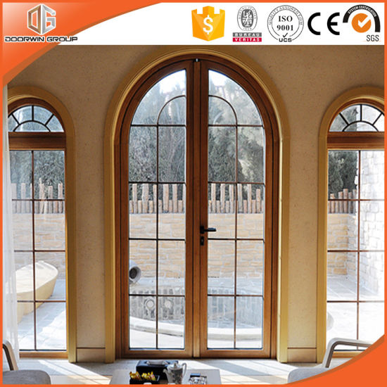 Grille Round-Top Casement Window Solid Pine Wood Larch Wood Window, Ultra-Large Full Divide Light Grille Windows pictures & photos