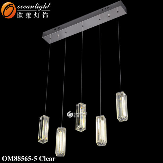 Modern Crystal Hanging Five Heads Chandelier Lamp