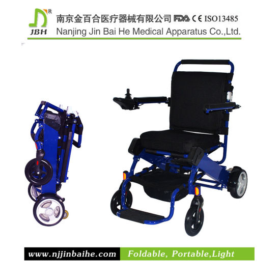 Luxury Lightweight Foldable Electric Wheelchair for Rehabilitation Therapy pictures & photos