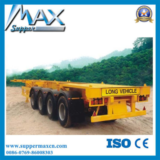 3 Axle Skeleton Container Semi-Trailer/Container Frame Semi Trailer for Transportation pictures & photos