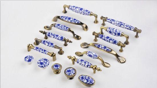 3 3 75 Ruralist Blue White Knobs Dresser Knob Drawer Pulls Handles