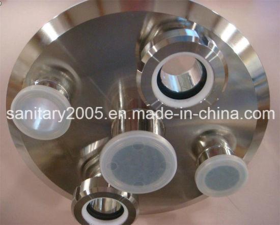 "304 Stainless Steel Lid 6"" Diameter with 1/4 Female NPT"