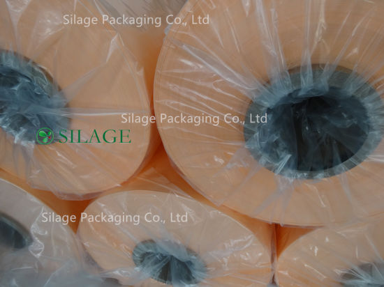 Triple Layer Blown Silage Wrap Film in Orange Color Blown Silage Wrap pictures & photos