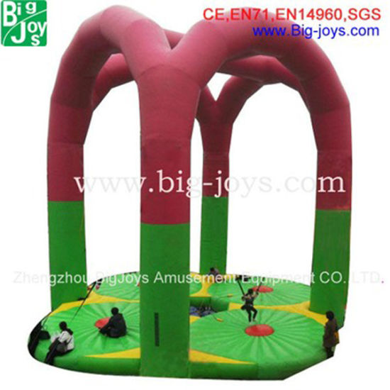 Latest Carzy 4 Pillars Inflatable Bungee Jump (BJ-GM61) pictures & photos