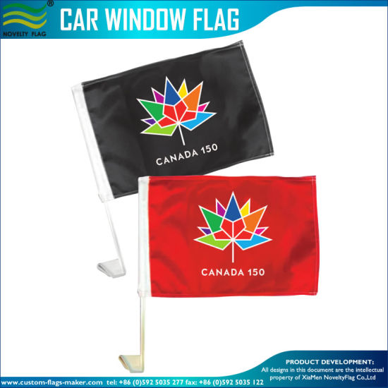 Fast Delivery High and Cheap Quality Car Flag 150th Anniversary of Canada