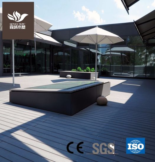 Hollow UV Stable WPC Flooring Wood Plastic Composite Co-Extrusion Decking