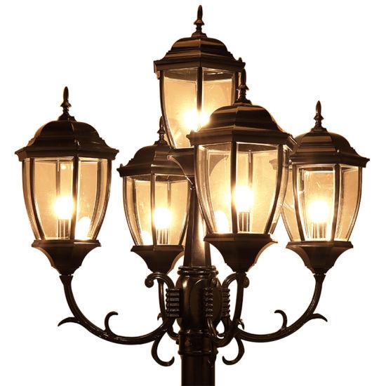 China European Style Garden Light Multi, Multi Light Lamp Post