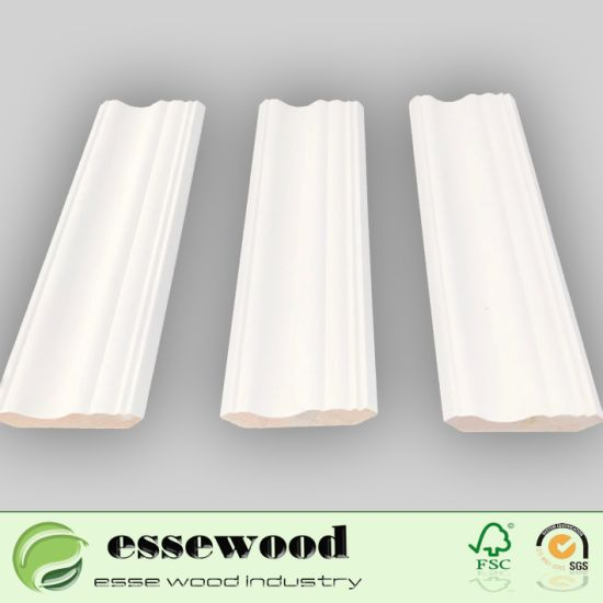 Home Decorative Pine Solid Wood Mouldings/Sking Board/Crown Cornice Ceiling  Moulding