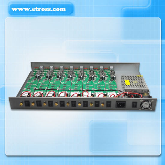 8 Channel GSM FWT/8 Ports GSM Gateway/64 SIM Card GSM Terminal Etross-8888 pictures & photos