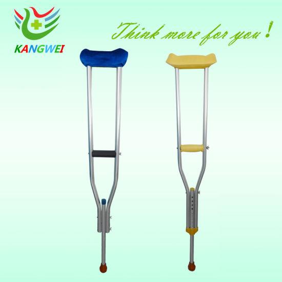Hospital Medical Lightweight Crutch Walking Cane for Disabled People (SLV-E4014)