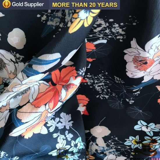 100% Polyester Fabric with Digital Print Flower Print Dress Fabric pictures & photos