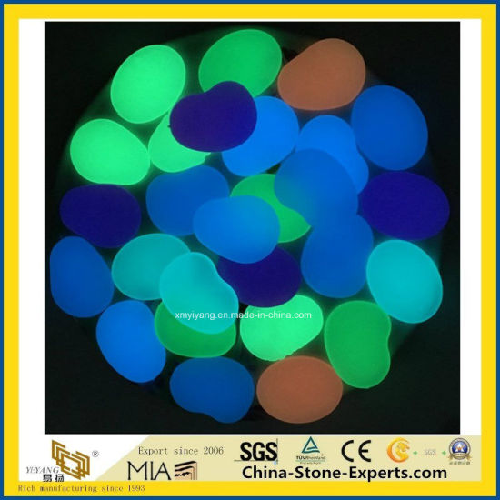 Glow in The Dark Big Multi Color White/Black/Grey/Red/Gray Pebble Stone for Landscaping/Paving/Garden/Yard/Indoor/Decoration/Outside/Flooring/Paver/Landscape pictures & photos