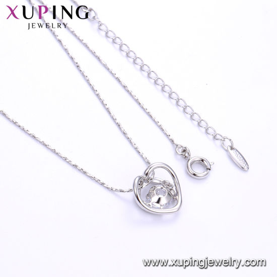 44704 Fashion Charm Rhodium CZ Key Stainless Steel Imitation Jewelry Pendant Necklace pictures & photos