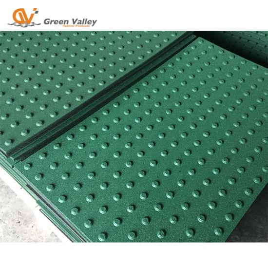 China 60x100cm Outdoor Tactile Rubber Floor Tile Brick For Walkway