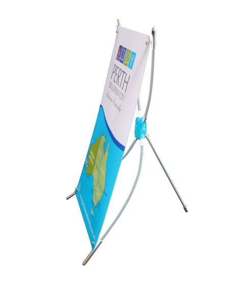 China Mini Tabletop X Plastic Frame Banner Stand - China X Banner ...