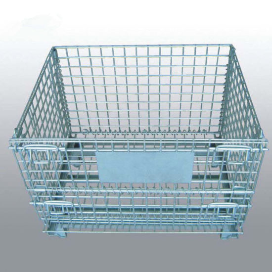 Warehouse Metal Folding Wire Mesh Container/Cage