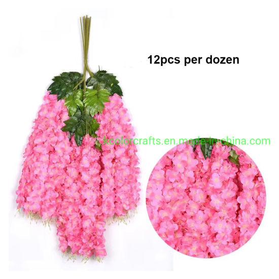 Wedding Decorative Silk Wisteria Wholesael Hydrangea Artificial Flower Arrangement