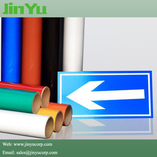 Advertising Grade Vinyl Sticker Material Reflective Film for Safety Signs pictures & photos