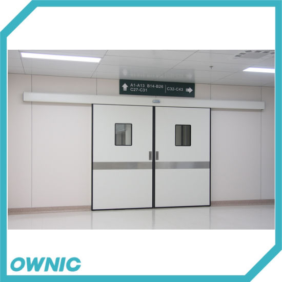 Double Hermetic Sliding Door with Kick Plate of Hospital Operation Room