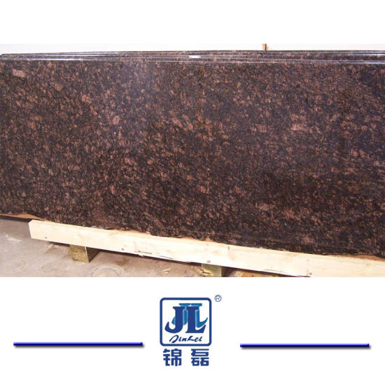 Natural Stone Polished Tan Brown Granite For Slab Countertop Tombstone Backsplash Pictures