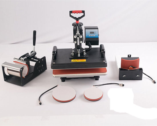 5 in 1 Head Shake Sublimation Heat Transfer Press machine for Mobile Cover