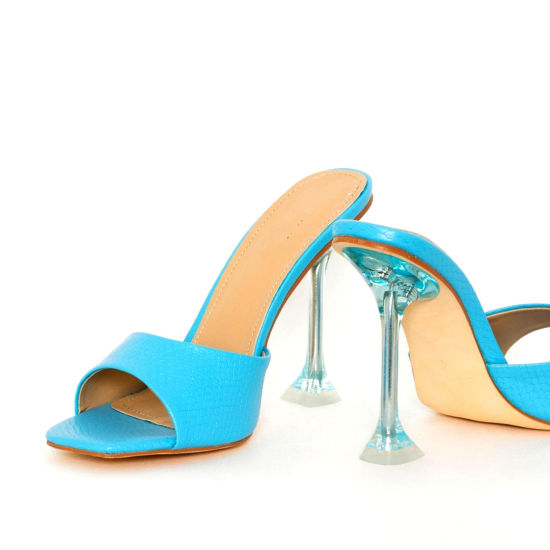 Wholesale Slippers Fashion Women Shoes Clear High Heels Transparent Ladies Shoes Sandals
