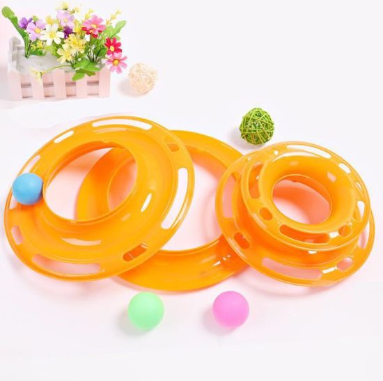 Three Layer Crazy Plastic Pet Supply Three-Layer Turntable Track Cat Toy pictures & photos