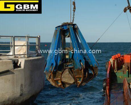 China Mechanical Dredging Orange Peel Grab Stone Grapple