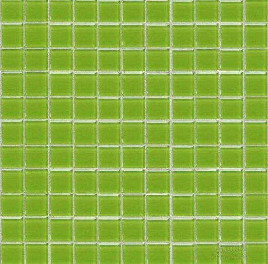 Fresh Green Color Gl Mosaic For Swimming Pool Tile