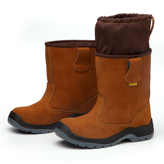 safety Shoes Boots Man Autumn Winter Warm Anti - Smash Anti - Puncture Anti - Hot High Tube High Top Anti - Slip Oil Field Welder's Shoes