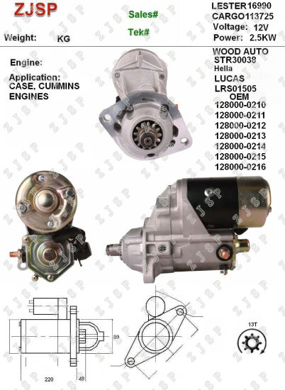 Denso Starter Zjs Nd 038 Lrs01505 113725 3604485nw 3604485rx 3604660nw 3604660rx 3675154nw 3675154rx 3904466 3920643 3926960 3957594 10465540 128000 0210