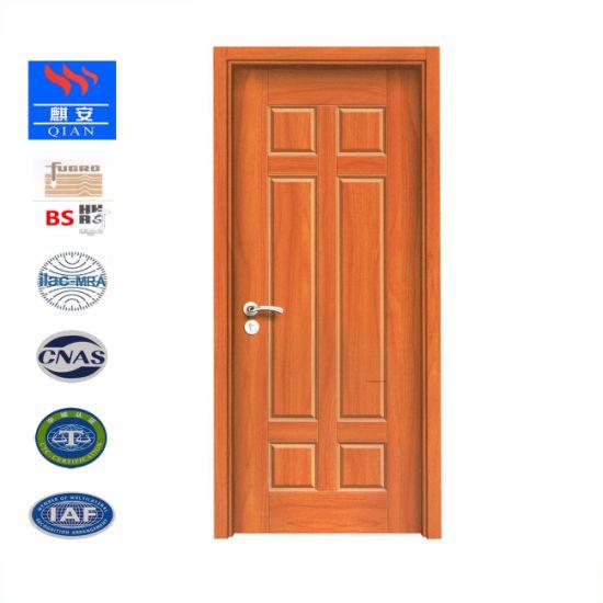 China 6 Panel Decoration Composite Skin Moulded Mdf Front Doors