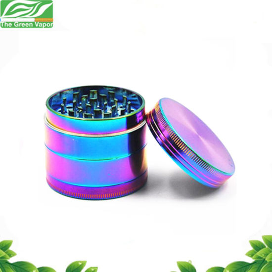 Hot Sale Grinding Machine 4 Pieces Rainbow Tobacco Spice Grinder with Cleaning Brush pictures & photos