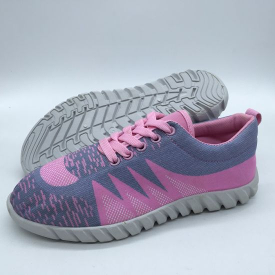 Factory Price Women Sport Shoes Injection Casual Shoes Sneaker Shoes for Wholesale (XJY413-5)