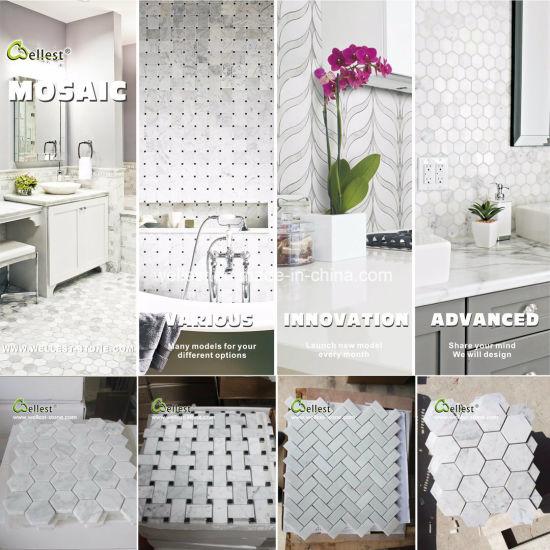Polished Carrara White Hexagon Marble
