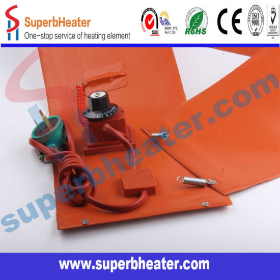 China DC-12V-48V Silicone Rubber Heater Built-in Thermostat - China
