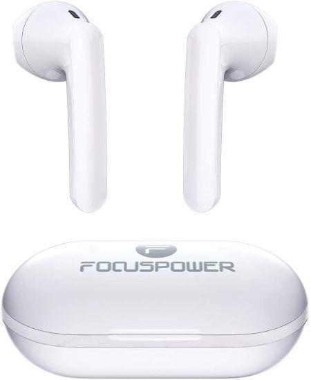 Focuspower F15 Bluetooth Headset Bt5.0 Waterproof Ipx6 Half in Ear Wireless Tws Headphone