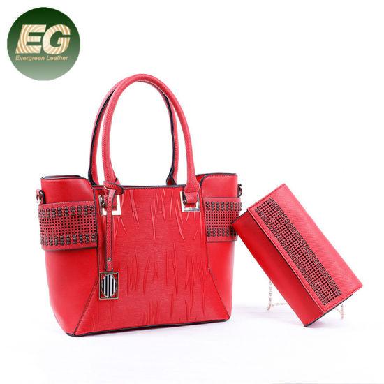 5bfffe86fd China Big Women Handbag Set Ladies Bag with a Purse Sh724 - China ...