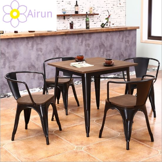 China Home Metal Top Vintage Dining Table Metal Coffee Table With Metal Legs China Dining Room Furniture Dining Table