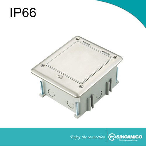 IP66 Outdoor Waterproof Floor Box with Switches and Sockets