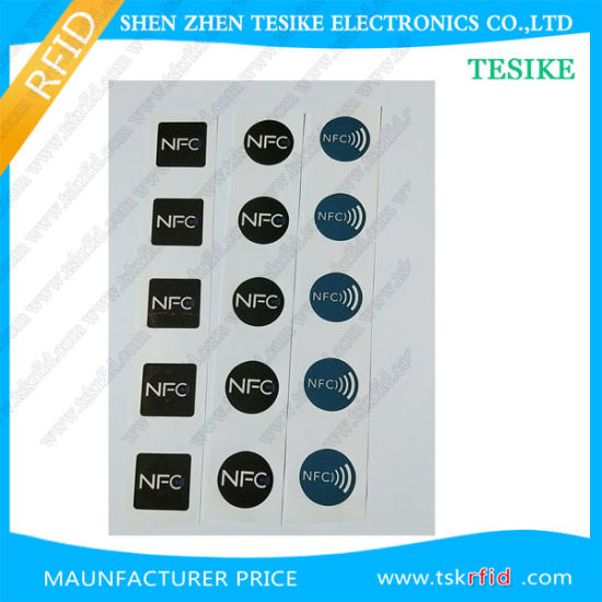 Rewritable Adhesive ISO14443A 13.56MHz Hf RFID Tag/Label/Sticker