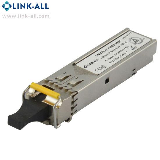 Fiber Transceiver 2.5g Bidi SFP Module with 80km Transmitting Distance