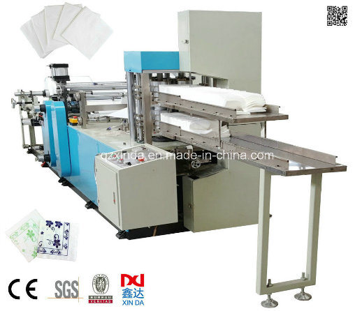 Automatic Color Printing 1/4 Folding Restaurant Paper Napkin Machine pictures & photos