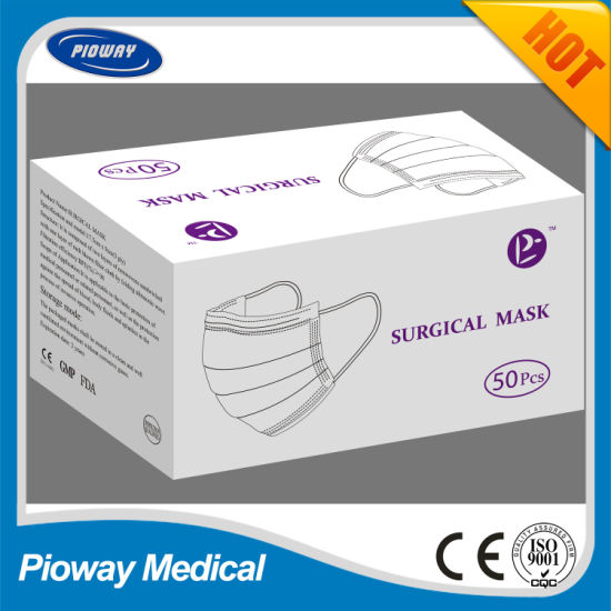 3 Ply Disposable Face Mask 3-Player Non-Woven Disposable Medical Surgical Face Mask