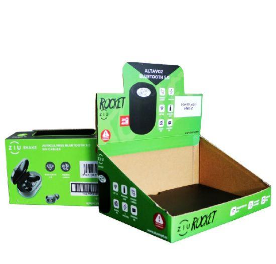 Promotional Pop Shelf Ready Packaging Tear Away Folding PDQ Counter Template Paper Cardboard Display Box