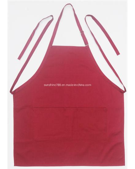 Customized Cotton Polyester Barista Masterchef Full Length Bib Apron